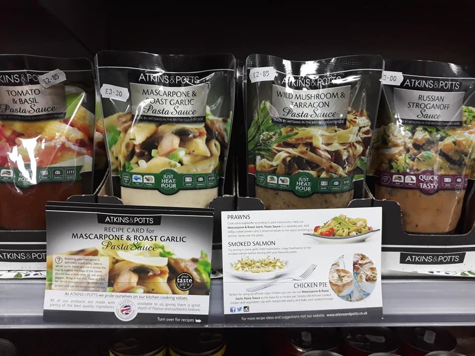 Selection of Atkins & Potts sauces