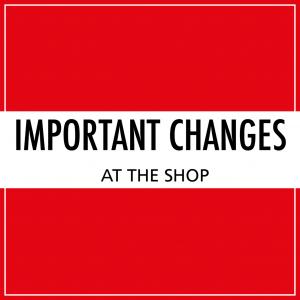 Important changes!