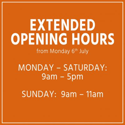 Extended opening hours – from JULY